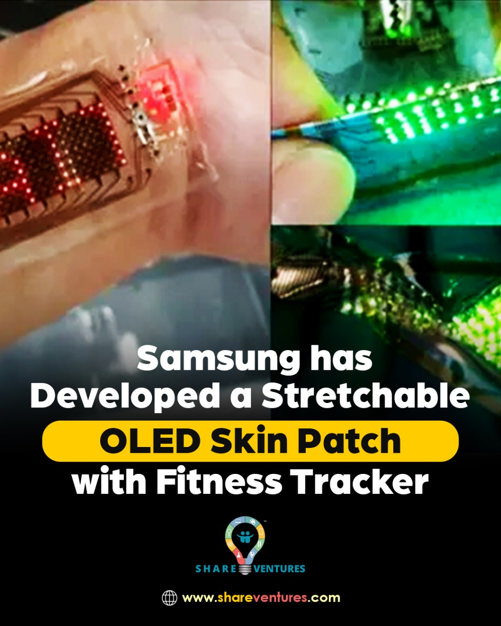 Samsung showcases a stretchable OLED skinPatch